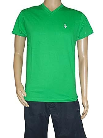 U.S. Polo Assn. Men's V-Neck T-Shirt, Court Green, Small