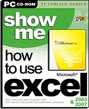 Show Me How to Use Excel 2003 and 2007 Training CD-ROM
