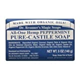 Dr. Bronner - Organic Peppermint Bar Soap, 5 oz bar soap