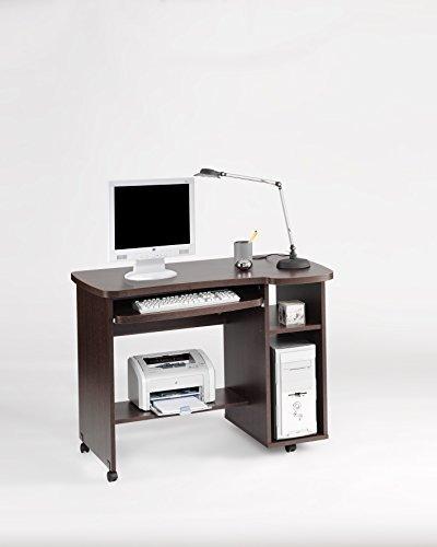 Topkit - tabelle di studio/computer tavolo con vassoio removibile e foro per CPU. Fatto 30 / 19 mm di spessore e con bordo di 1mm, colore wengé