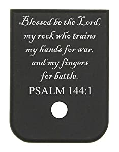 Magazine Base Floor Plate for Glock Pistols - 9mm & 40 PSALM 144:1