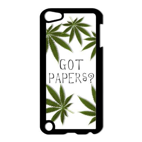 Got Papers? Marijuana Pot Leaf Apple iPod Touch 5th Gen Black Hard Case