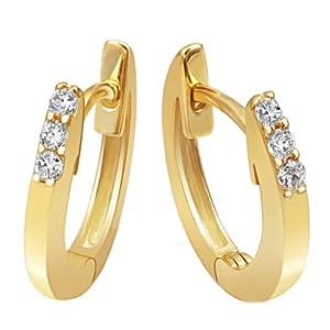 goldmaid Damen-Creolen Memoire 585 Gelbgold 6 Brillanten 0.10 ct. Me O5321GG