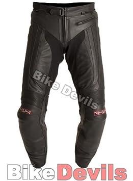 Nouveau pantalon de moto en cuir noir de la TVD no R-1492