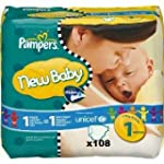 Pampers New Baby Size 1 108 Newborn N...