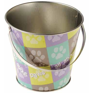 One Paw Print Theme Mini Metal Bucket