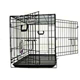 Pet Tek Dreamcrate Professional Series 400 2-Door Crate 36 Inch x 23 Inch x 26 Inch - Black