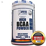 (33,98Euro/Kg) German Sport Nutrition High BCAA Powder Orange Plus Glutamin , 1er Pack (1 x 500 g) Pulver