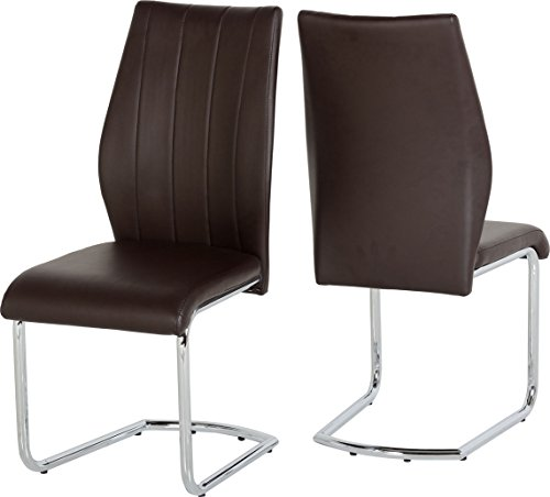 valufurniture-milan-pu-leather-dining-chairs-pack-of-2-brown