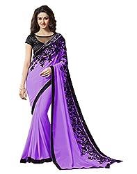 Offo Deals Partywear Traditional Purple Women Saree ss-1807e