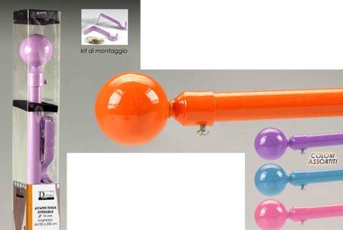 Idea casa: ASTA PER TENDA REGOLABILE da cm 120 a cm 220 in metallo colorato e PVC. kit di montaggio INCLUSO; colori assortiti (verificare disponibilità)