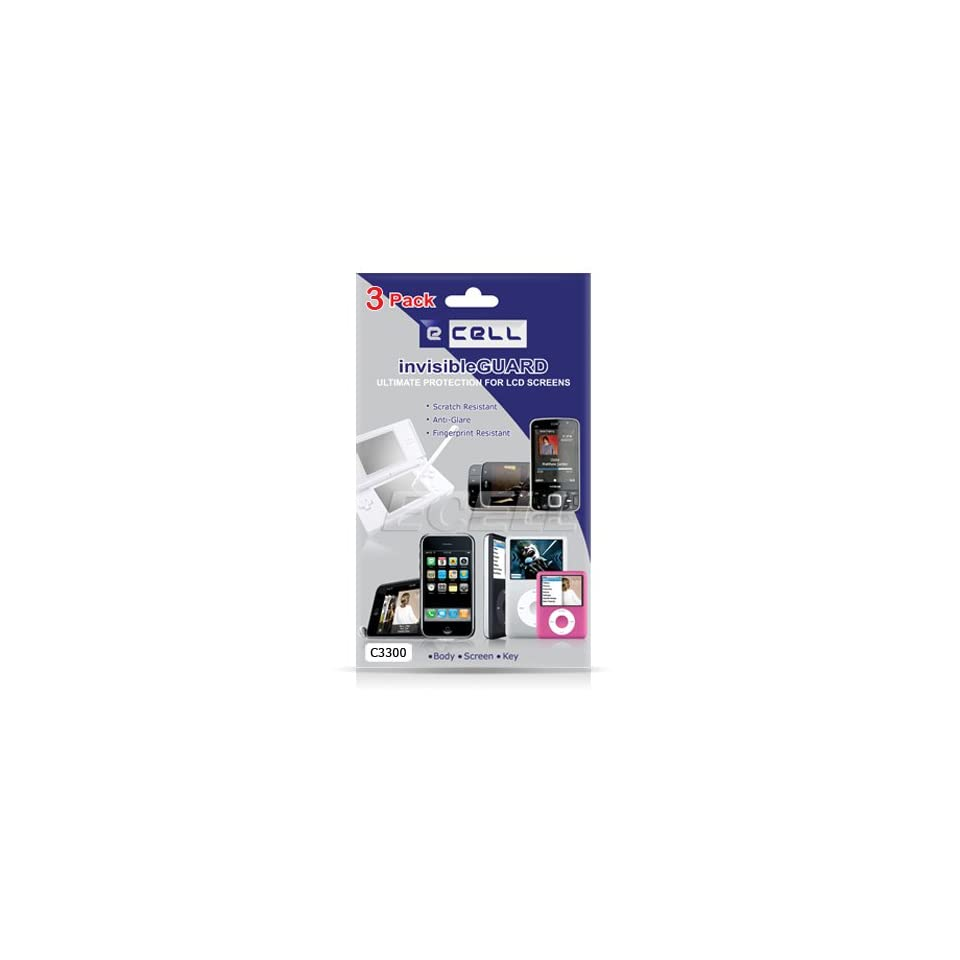 Ecell   3 X ANTI GLARE SCREEN PROTECTOR FOR SAMSUNG C3300 CHAMP