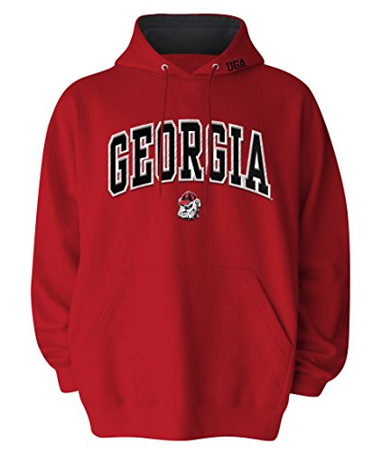 NCAA Men's Georgia Bulldogs Hooded Sweatshirt (Red, X-Large) (Georgia Bulldogs Mens Hoodie compare prices)