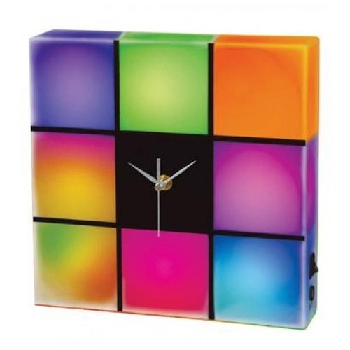 Creative Motion Led Color Changing Panel With Clock