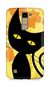 Amez designer printed 3d premium high quality back case cover for LG K10 (Black Cat Halloween)