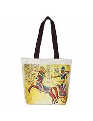 The House Of Tara Egyptian Print Handbag (Multicolour) - B00VRMP6OU