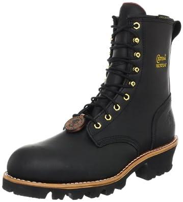 "Chippewa Men's 73050 8"" Waterproof Insulated Steel Toe Logger,Black OIled,6 M US"