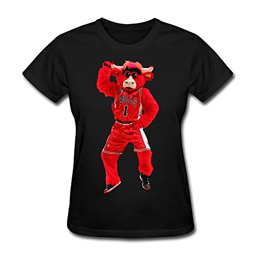 XY-TEE Women's Tee Benny The Bull Popcorn Best Mascot 2015 Black Size XL (Popcorn 1969 compare prices)