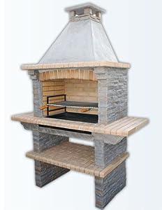 mediterrani slate masonry bbq charcoal bbq garden outdoors. Black Bedroom Furniture Sets. Home Design Ideas