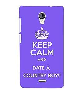 EPICCASE Country love Mobile Back Case Cover For Micromax Unite 2 A106 (Designer Case)
