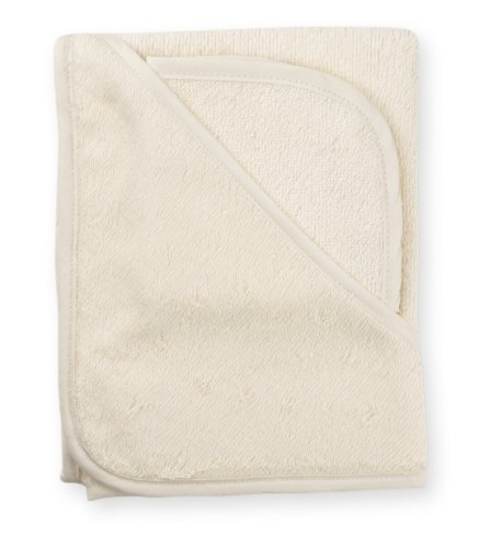 American Baby Company 100% Cotton Terry Hooded Towel Set, Ecru back-796620