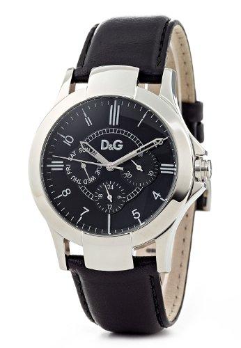 Dolce & Gabbana 2 - Reloj unisex de cuarzo, correa de piel color negro