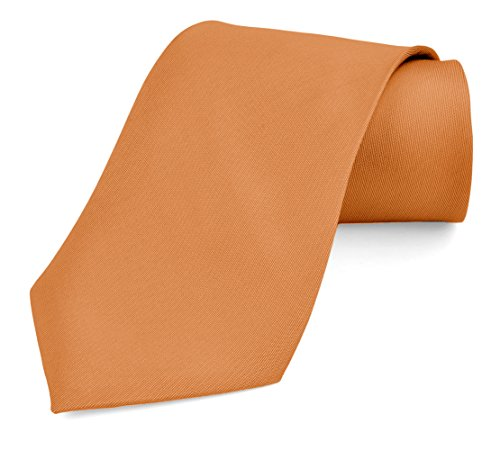 Dabung- Men's Necktie Solid Colors, Men Fashion Tie Polyester Ties 57 x 3.5 in - Orange (Neon Color Neck Ties compare prices)