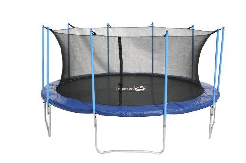 advendise trampolin 455 cm mit sicherheitsnetz bis 150kg schwarz blau 455 cm trampolin. Black Bedroom Furniture Sets. Home Design Ideas