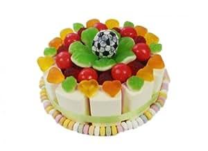 Geburtstagstorte Happy Birthday für Fussballfan Menge: 550: Amazon
