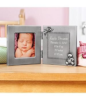 Pewter Birth Photo Frame Pewter Birth Photo Frame