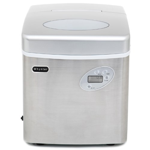 Whynter IMC-490SS Portable Ice Maker, 49-Pound, Stainless Steel