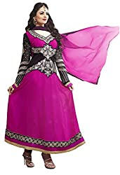 Atisundar classy Pink And Black Embroidered Anarkali- 5183_32_5002