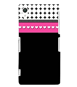 Heart Pattern 3D Hard Polycarbonate Designer Back Case Cover for Sony Xperia Z2 :: Sony Xperia Z2 L50W D6502 D6503