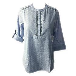 Ac Women's Cotton Kurti (N14_Light Blue_Large)