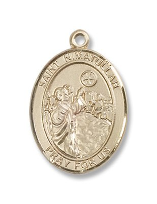 Gold Filled St. Nimatullah Medal Pendant Charm with 18