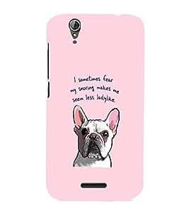 EPICCASE Pink lady Bulldog Mobile Back Case Cover For Acer Liquid Z630 (Designer Case)