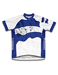 Honduras Flag Short Sleeve Cycling Jersey for Women