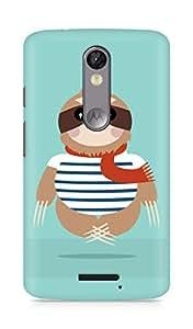 Amez designer printed 3d premium high quality back case cover for Motorola Moto X Force (Sloth)