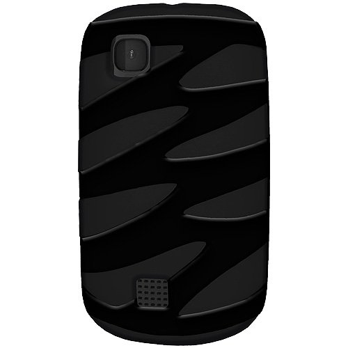Amzer AMZ94963 Amzer Hybrid ZigZag Case for Nokia Asha 200/201 - 1 Pack - Retail Packaging - Black/Black