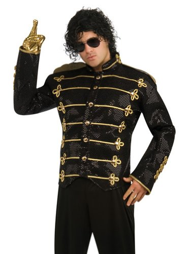 Michael Jackson Deluxe Military Jacket, Black, X-Large