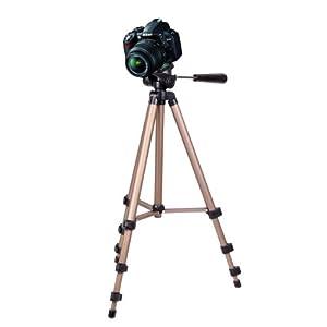 DURAGADGET trépied extensible et robuste - qualité professionnelle - pour appareil photo SLR Nikon D3100, D600, D800, D5100, D7000