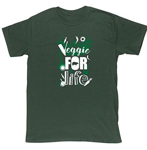hippowarehouse-veggie-per-la-vita-riccio-unisex-manica-corta-t-shirt-forest-green-xx-large