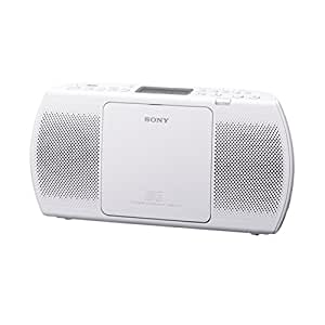 Sony ZSPE40CP Slim Portable Radio with CD/USB Playback - White