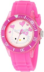 Hello Kitty Women's HWL1346PK Watch With Pink Rubber Band