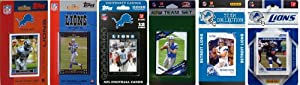 NFL Detroit Lions Six Different Licensed Trading Card Team Sets by C&I Collectables