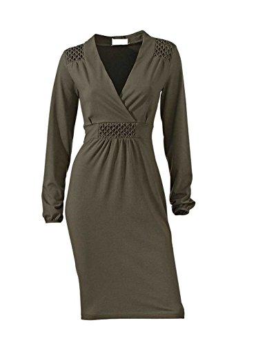 Linea Tesini Damen-Kleid Kleid Grau Größe 38