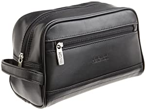 Kenneth Cole REACTION Men's Leather Zip Top Travel Kit by Kenneth Cole Reaction