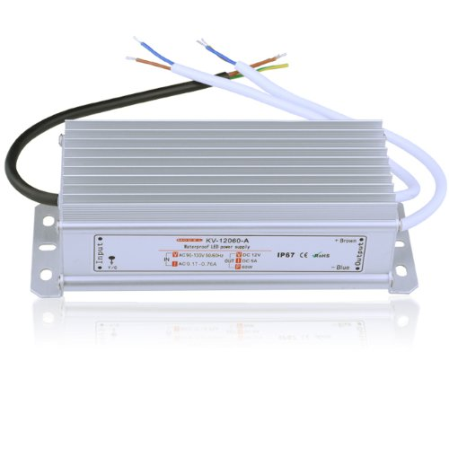 Le Power Adaptor For Led Module, 12V, 5A, Waterproof