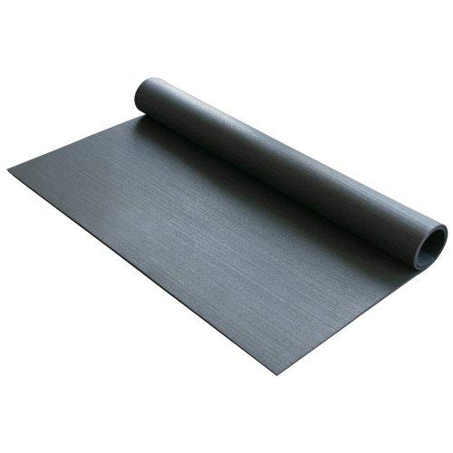 "Rubber-Cal Rubber Anti-Vibration Mat - 1/4"" x 4ft Wide x 3ft Long - Black Washing Machine Vibration Mat"