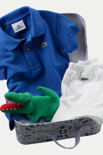 Baby Boy's Polo And Short Gift Set